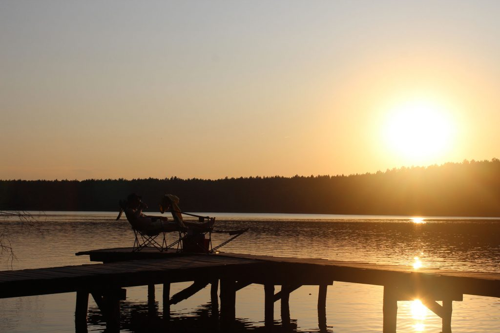 Sonnenuntergang am Maroz See