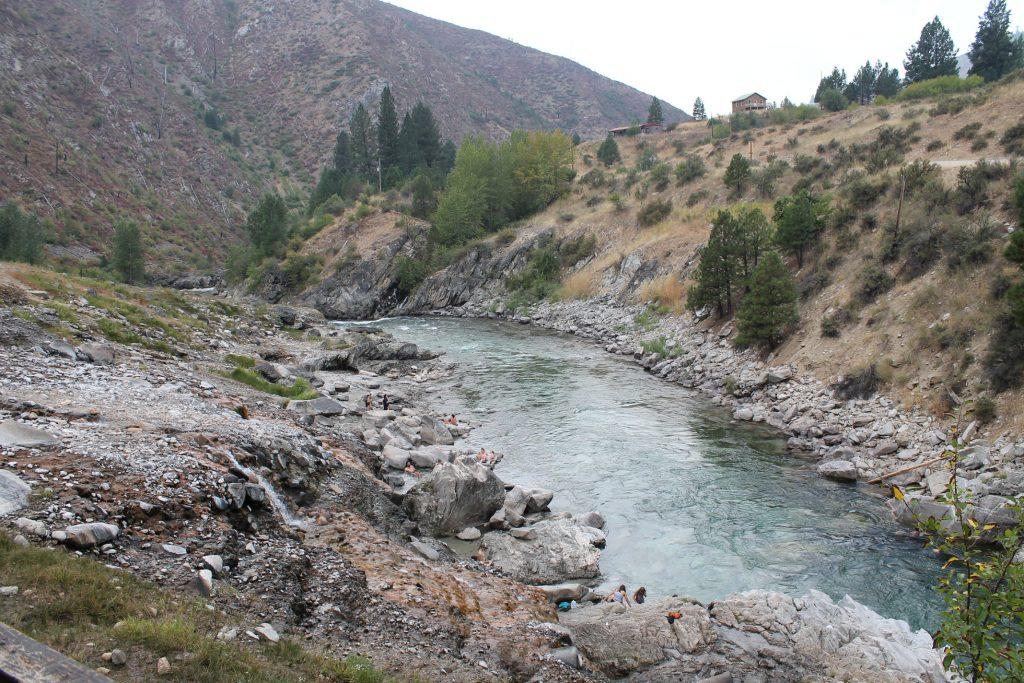 Kirkham Hot Springs im Boise National Forest